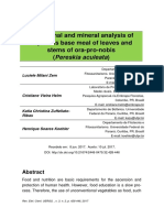 Centesimal and Mineral Analysis of Cupcakes Base Meal of Leaves and Stems of Ora-pro-nobis - Pereskia Aculeata