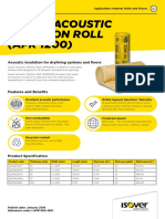 Datasheet - Isover Acoustic Partition Roll Apr 1200