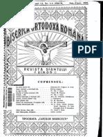 Revista BOR Biserica Ortodoxa Romana 1933 Nr. 1-12