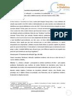 """Fichamento de """"A Reificação e a Consciência Do Proletariado"""", de G. Lukács"""