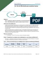 Práctica 17. Uso de Wireshark para examinar las tramas Ethernet
