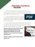 Racismo. Material. Niveles 1º- 2º ESO.
