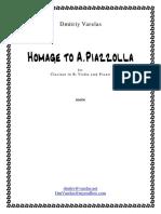 Dvarelas - Hommage a Astor Piazzolla - Trio - Clarinetto, Violin Piano