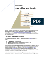 6a Bloom's Taxonomy of Learning Domains