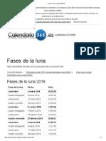 Fases de La Luna 2018 & 2019