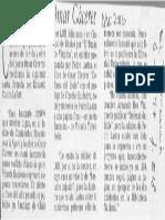 El Mercurio Sobre Defensa Del Ídolo LOM
