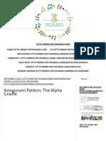 Amigurumi Pattern_ the Alpha Giraffe - Tarturumies