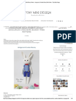 Amigurumi Male Bunny Pattern - Amigurumi Crackers Bunny Free Pattern - Tiny Mini Design