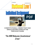 Constitutional Law 1 Individual Assignment