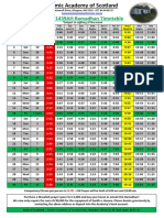 ramadhan timetable 2018