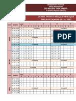 Jadwal Pelajaran Anti Bentrok SD