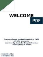 Presentation on Market Potential of TATA AIG Life