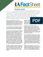 Hydrogen Sulfide Fact h2s OSHA