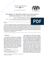 Griffith 2004- The Influence of Individual and Firm Level Social Capital of Marketing Managers in a Firm's Global Network