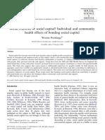 Poortinga 2006- Social Relations or Social Capital Individual and Community Health Effects of Bonding Social Capital