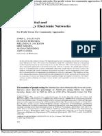 Sullivan Et Al 2002- Social Capital and Community Electronic Networks