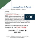Portfolio 2018 - Processos Gerenciais 3 Semestre - Indústria Ferreira Ferrari - EU TENHO - Zap 31 971771009