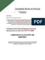 Portfolio 2018 - Gestao Publica 3 Semestre - Orçamento Da Policia Metropolitana - EU TENHO - Zap 31 971771009
