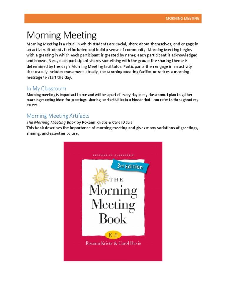 4 1 Morning Meeting