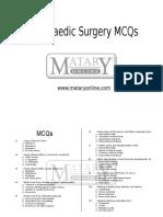 Orthopaedics MCQsf