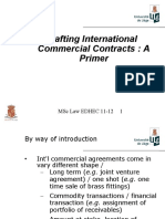 Intl Commercial Contracts (Drafting) 2011