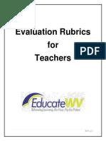 Teacher Evaluation Rubrics 000