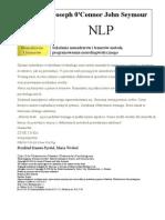 O'Connor Joseph, Seymour John - NLP - Szkolenie Menedżerów i Trenerów