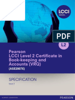 Certificate in Bookkeeping and Accounting Level 2