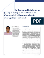 A Análise de Impacto Regulatório - Funcionario TCU