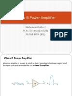 22 Class B Power Amplfiers