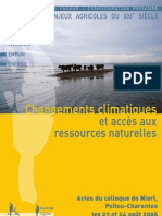 Actes de Colloque Poitou-Charentes