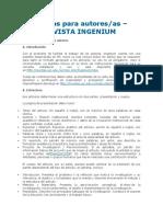 Normas Para Autores - Revista Ingenium