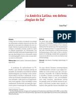 Suze Piza - Pensar Desde a América Latina Em Defesa Da Epistemologia Do Sul