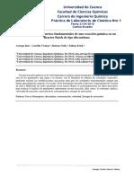 Practica Cinética  Reacción en un Reactor Batch