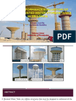 Seismic Performance Evaluation of Elevated Water Storage Tanks