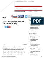 Kim_ Nuclear Test Site Will Be Closed in May - News - NHK WORLD - English