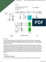 STATCOM (Phasor Model) - MATLAB & Simulink