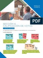 Sección 4 Calificación de Votos