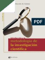 Introduccion a La Metodologia de La Investigacion Cientifica