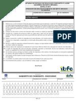 Ibfc 07 Professor de Educacao Basica de Mato Grosso Filosofia