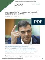 El PP No Está Tan Mal, Se Le Subestima Como Al PSOE_ _ España
