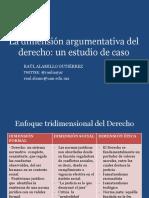 La dimensión argumentativa del derecho
