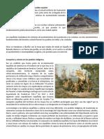 Asentamiento Prehispánico y Del Pueblo Español