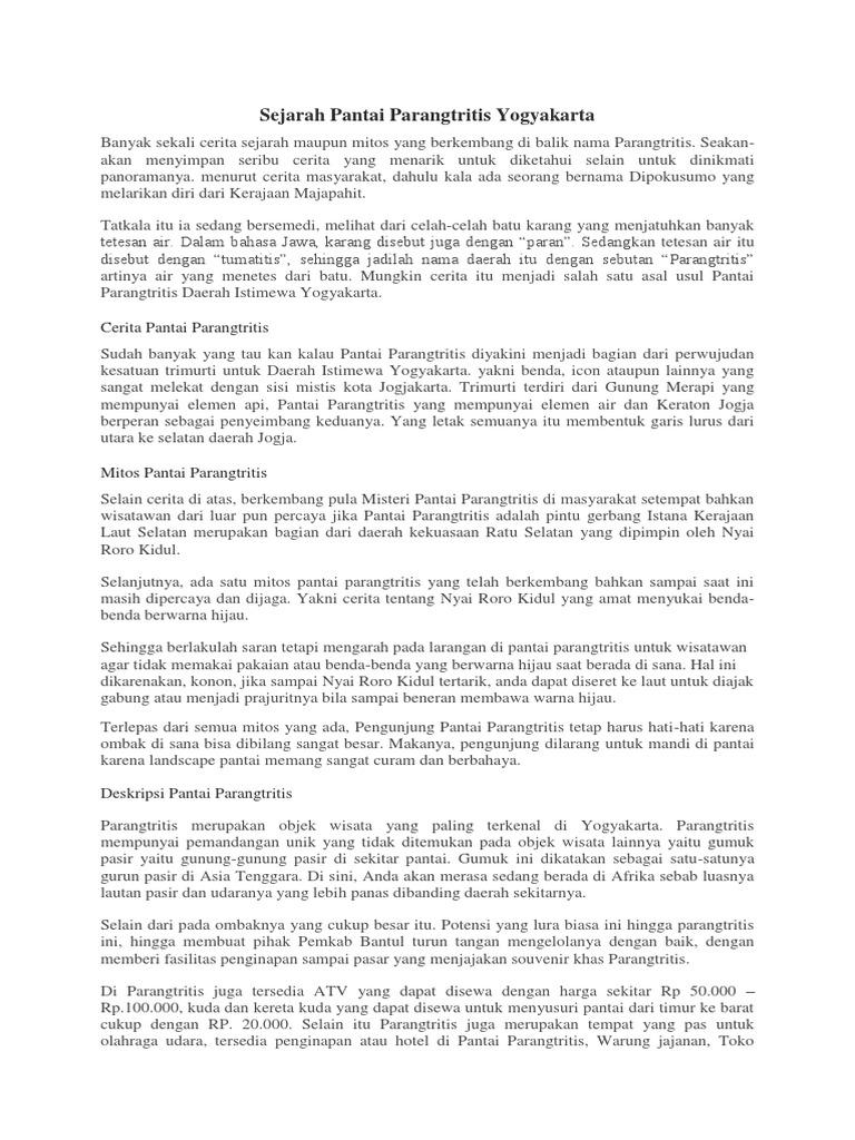 Sejarah Pantai Parangtritis Yogyakarta