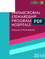 Antimicrobial Stewardship Manual of Procedures for Hospitals 2016 v2