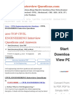 200 TOP CIVIL ENGINEERING Interview Questions and Answers