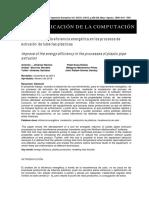 Mejoramiento de La Eficienca Energética en Los Procesos de Extrusión