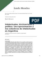 Intelectuales, Kirchnerismo y Política