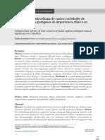 Actividad Antimicrobiana en Microorganismos Patogenos