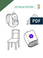 Materiales escolares sin Colorear